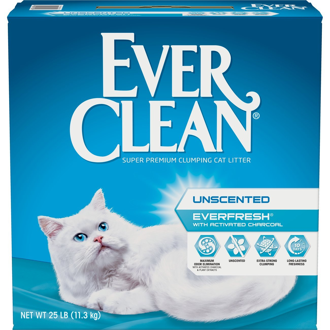 Ever Clean Ever Fresh Litter with Activated Charcoal , Unscented, 25 Pounds