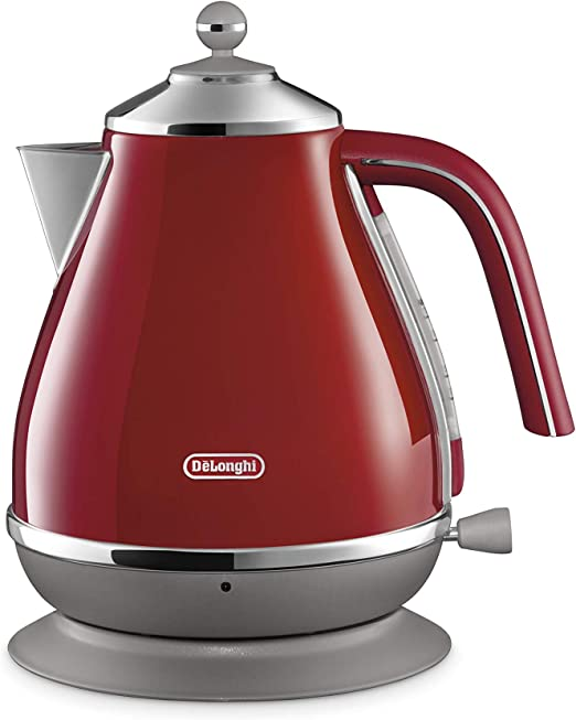 Delonghi icona Collection Electric kettle KBO1200J-R 【Japan Domestic genuine products】 Red