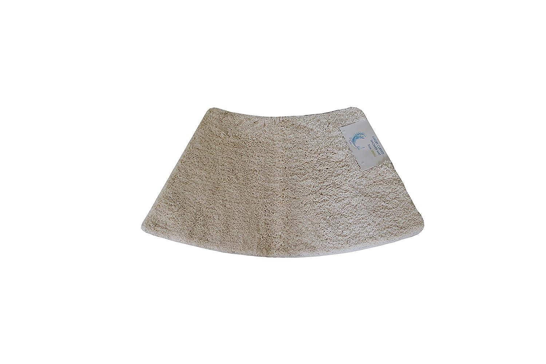 Cazsplash Luxury Quadrant Small Curved Shower Mat, Microfibre, Cream, 77 x 45 x 2.5 cm 706502080525