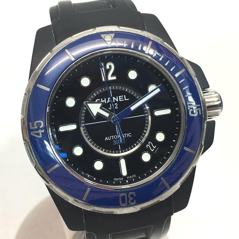 (シャネル) CHANEL H2559 J12 マリーン ブルーベゼル メンズ腕時計 腕時計 セラミック/ラバーベルト メンズ 中古 B077JY2KP3