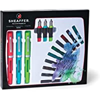 Sheaffer Viewpoint Calligraphy Maxi Kit: 3 Fountain Pens with 3 Nibs, 20 Assorted Ink Cartridges, Instructions, and…