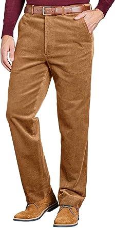 Pantalones De Pana Con Cintura Elastica Para Hombre Marron 60w 29l Amazon Es Ropa Y Accesorios
