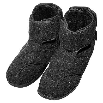 797125e97bf3c Cozy Ankle Men's Extra Wide Sneaker Boots for Swollen, Plantar Fasciitis,  Diabetic Edema, Bunions, Flat Feet - Adjustable Straps Footwear