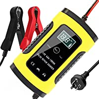 TOPERSUN Automotive Battery Charger Maintainer 6A 12V Smart Car Battery Charger with LCD Screen Multi Protections for…