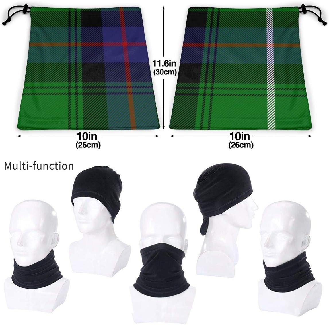 WCUTE Macdonald Tartan Scottish Cage Background3 Seamless Bandanas Headband Multifunctional Balaclava Scarf Headwear Neck Gaiter for Dust Protection