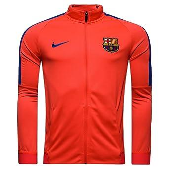 Nike FC Barcelona M Nk Dry Strke TRK Jkt K Chaqueta, Hombre, Rojo ...