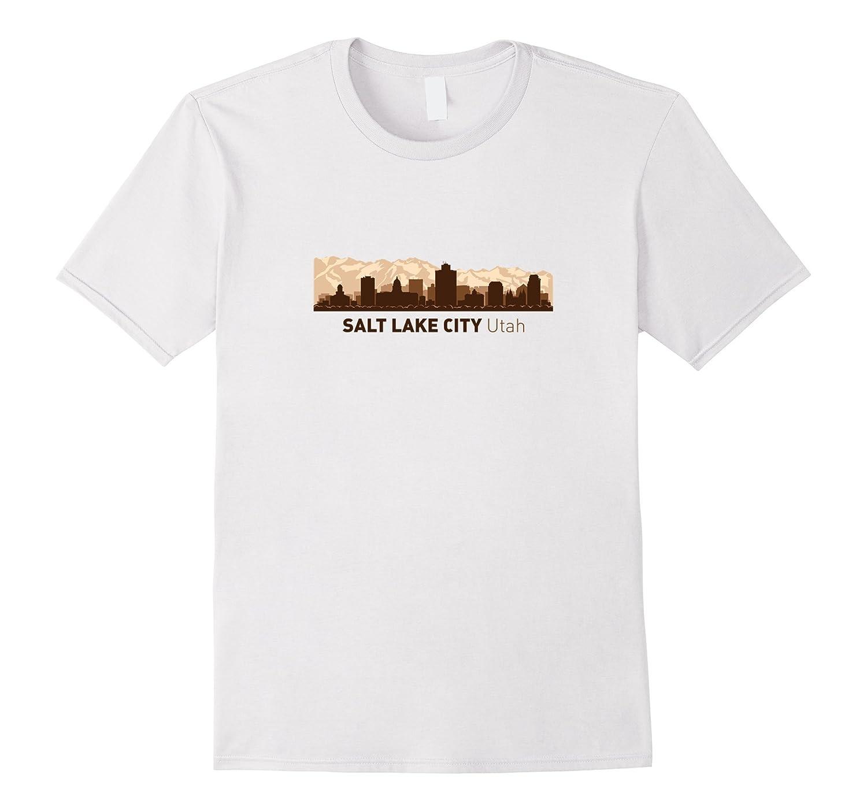 Salt Lake City UT City Skyline  Utah Hometown T-shirt-CD