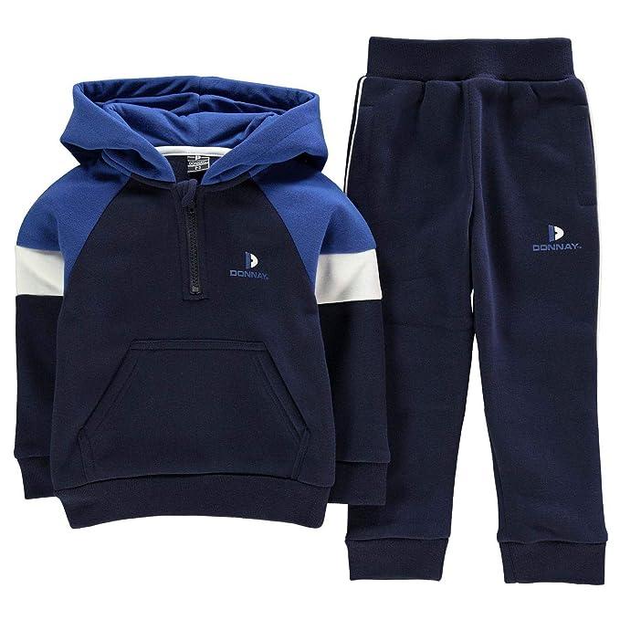 Donnay Niños Conujunto De Chándal Pantalones Y Sudadera Azul ...