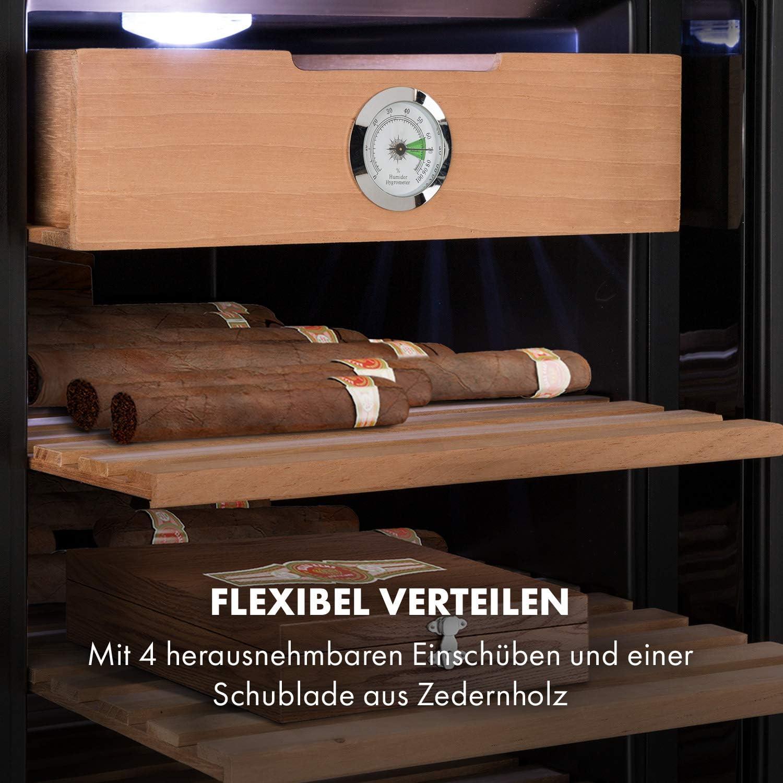 Humidor Schrank Hygrometer 33 Liter Zigarren Aufbewahrung Kühler B-WARE