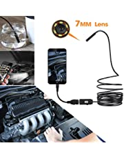 Inspection Cameras Diagnostic, Testing & Measuring Tools Color:Black Garciakia 720P 7mm Lens Endoscope Waterproof Inspection Borescope for Android Focus Camera Lens USB Cable Waterproof Endoscope