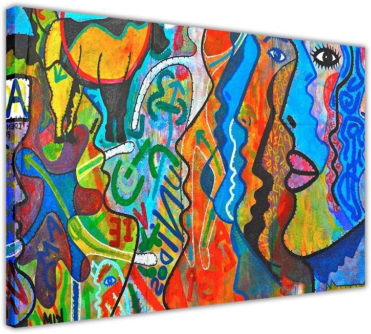 Art Prints Tableau sur toile Motif abstrait R/éimpression d/'une peinture /à l/'huile 01 30CM X 20CM A4-12 X 8