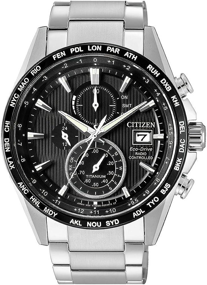Reloj Citizen modelo H800, súper titanio - controladopor radio, cód. AT8154-82E.