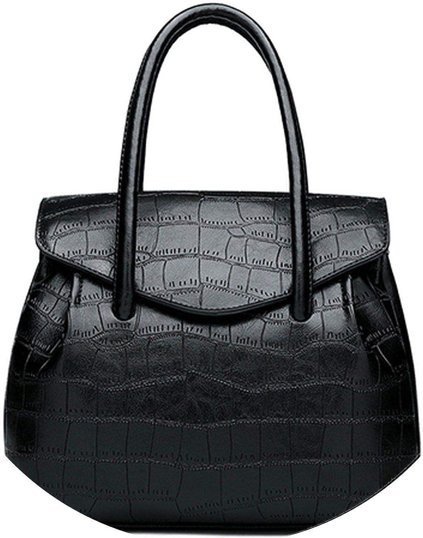 Retro oil wax PU Leather Women Handbag Lady Alligator Hobos Bag Patchwork Shoulder Bags