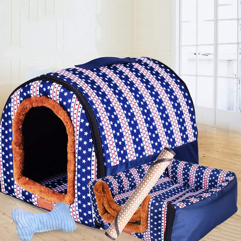 353228cm Pet nest large dog keel winter warm removle washle pet nest golden hair medium dog four seasons dog keel indoor dog house Soft Pad for Pets Sleeping (Size   35  32  28cm)