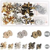 Broches Magnéticos,ZERHOK,30 sets,Cierre magnetico bolso,Broche Imán metálicos
