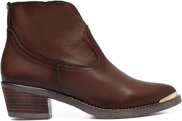 Texas Botín de tacón Cowboy MARRÓN Chocolate: Amazon.es: Zapatos y ...