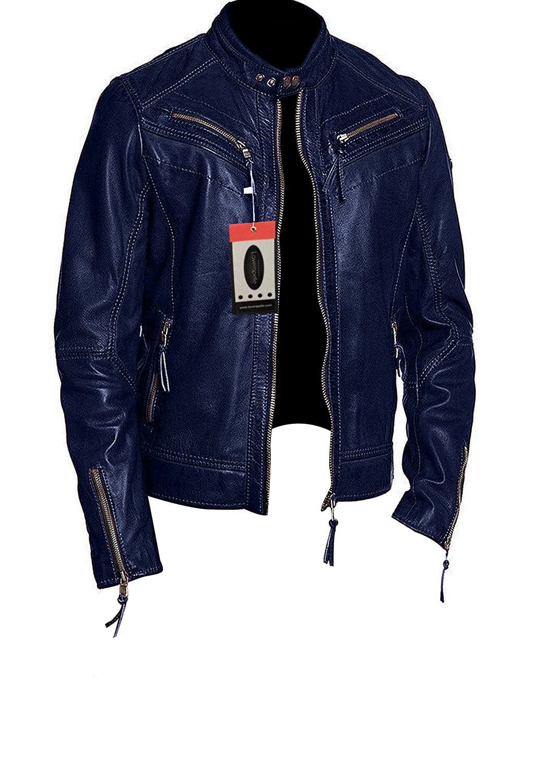 Laverapelle Men's Lamb skin Real Leather Jacket Black - 1510017