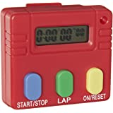 "EISCO Digital Timer, 3 Button Operation, 2"" Length x 2"" Width x 7/16"" Thick"