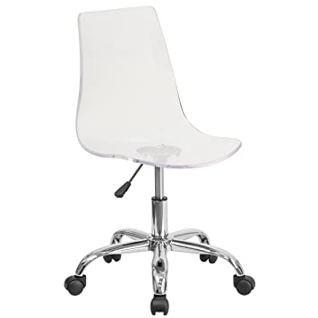 acrylic chairs uk. flash furniture contemporary transparent acrylic swivel task chair with chrome base chairs uk