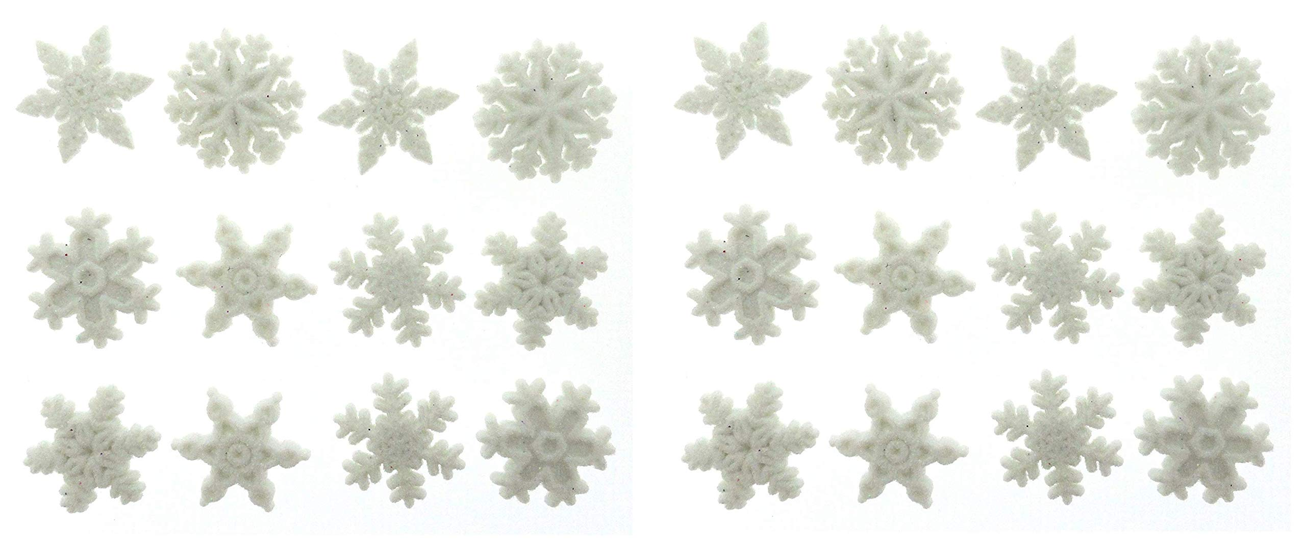 Jesse James Dress It Up Holiday Collection Embellishments, Glitter Snowflakes (Twо Pаck)