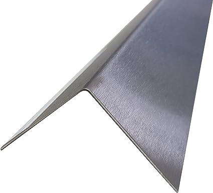 CNS Winkel 2000mm 45x15 mm K240 RIESEN AUSWAHL V2A 0,8mm stark Blechwinkel Kantenschutz,kreativbauen 200cm Eckschiene L-Blech Schenkel 4,5x1,5cm