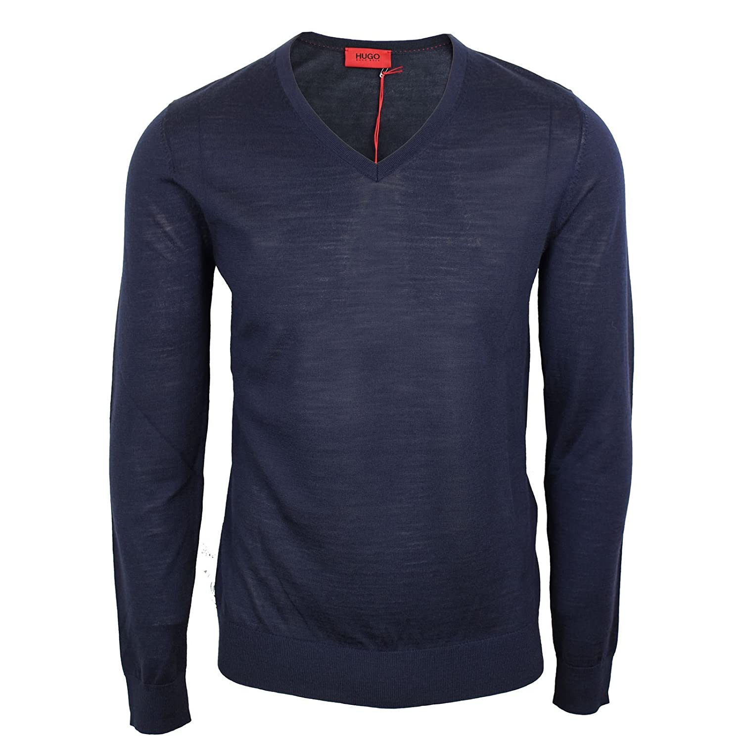 HUGO BOSS JUMPER SAN CARLO MENS NAVY KNIT