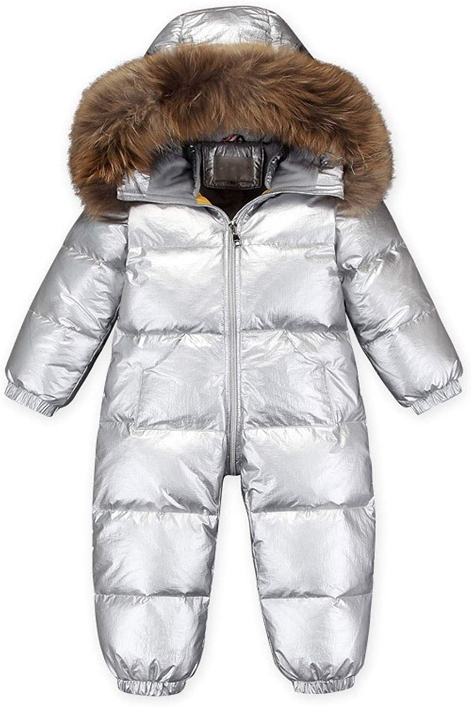 Childrens Winter Duck Down Jumpsuit Snowsuit Hooded Waterproof Children Clothing Set Kid Parka Boys Girls Winter Overalls