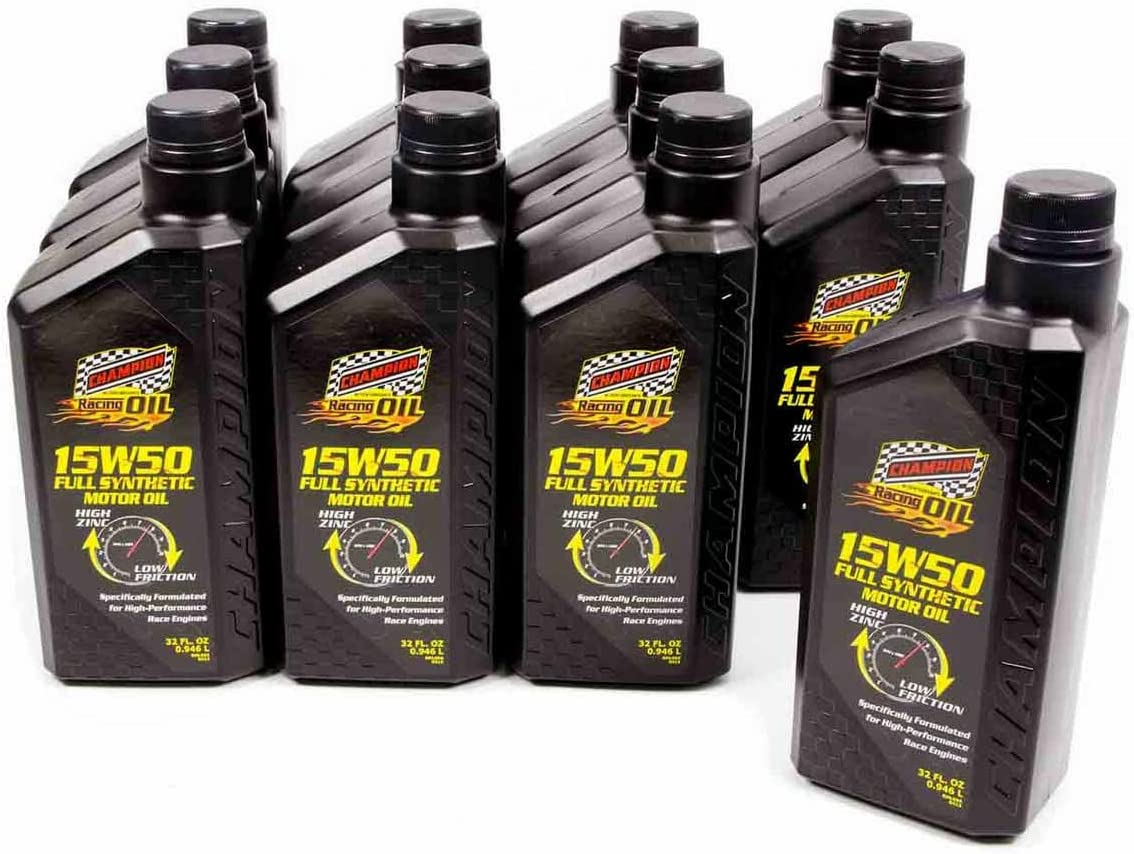 Champion Brands 4309H 15w50 Synthetic Racing Oil , 1 quart (Pack of 12)