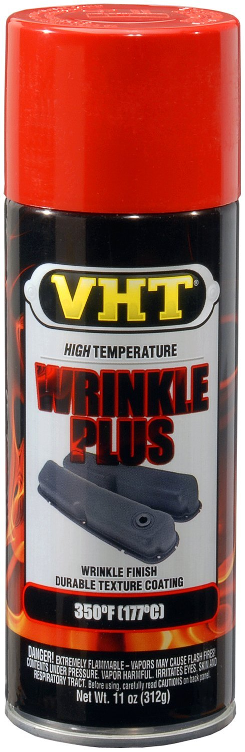 VHT SP204-6 PK (ESP204007-6 PK) Red High Temperature Wrinkle Finish - 11 oz. Aerosol, (Case of 6) by VHT