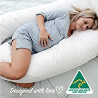 Australian Made Pregnancy/Maternity / Nursing Pillow Body Feeding Support (Pillowcase Included) (White)