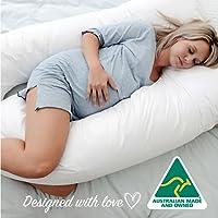 Australian Made Pregnancy/Maternity / Nursing Pillow Body Feeding Support (Pillowcase Included) (White)