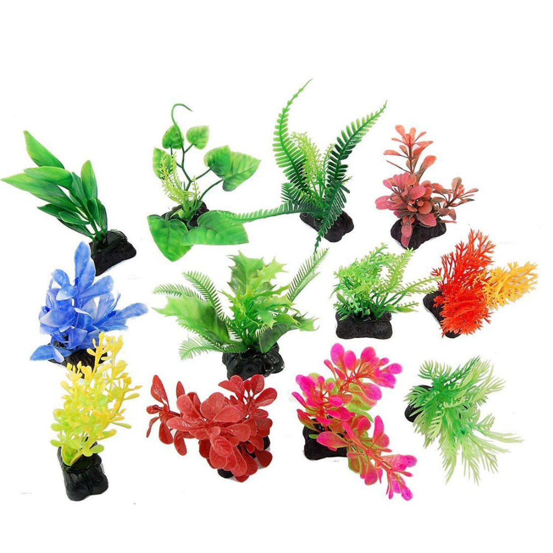 Saim Juego de 12 unidades plástico Hierba Acuario Pecera Simulación Planta Fish Tank Adorno por Saim: Amazon.es: Productos para mascotas