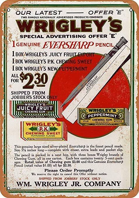 Taco Thursday Wrigleys Gum Pintura de Hierro Cartel de ...