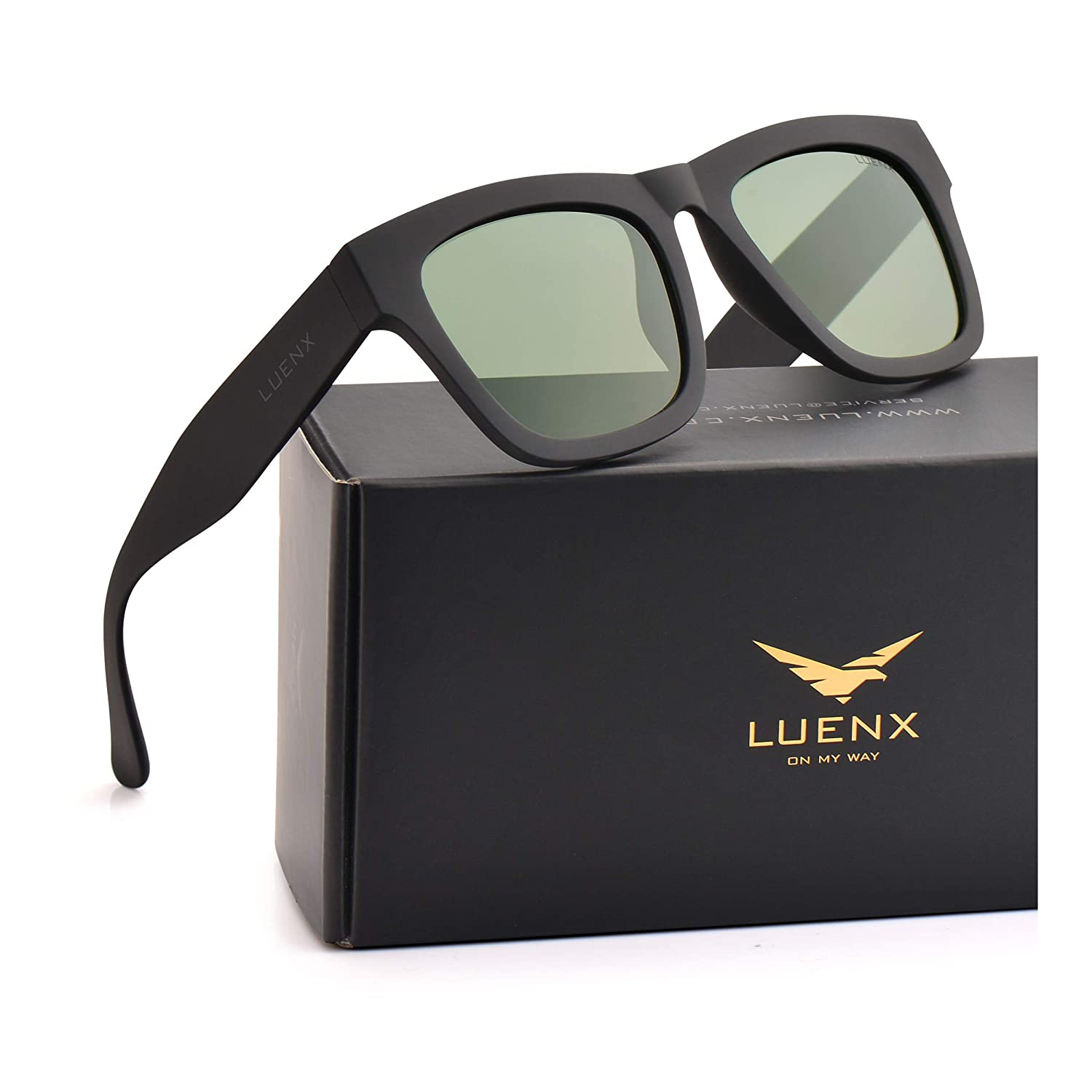 LUENX Mens Sunglasses Polarized Womens UV 400 Protection