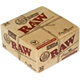 Raw Organic Connoisseur King Size Slim Rolling Paper With Tips Full Box Of 24 Packs
