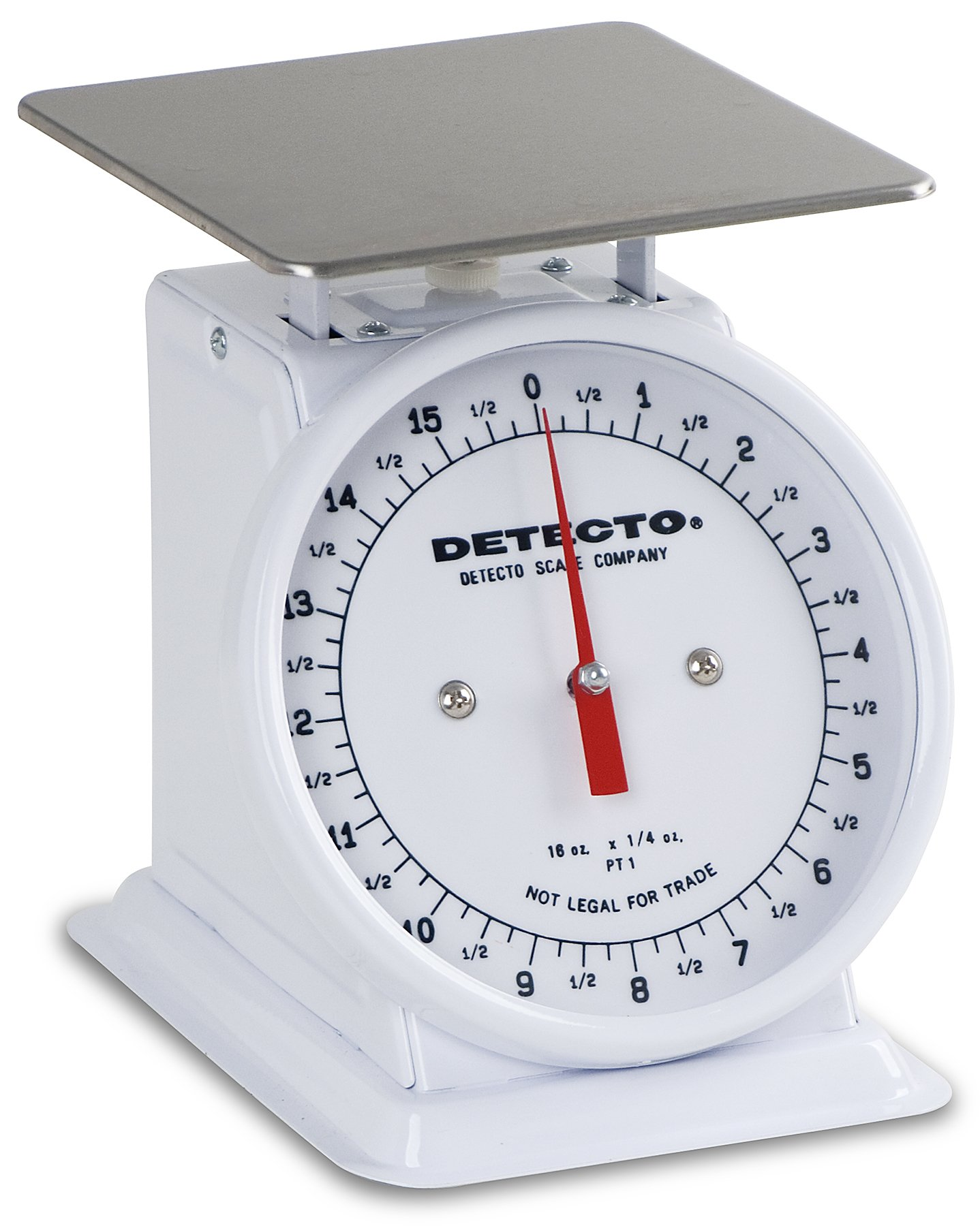 Detecto PT-1 Top Loading Fixed Dial Scale, 5.75'' x 5.75'', 16 oz. Capacity by Detecto