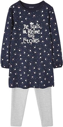 VERTBAUDET Camisón fosforescente + Leggings de Punto de algodón para niña Azul Oscuro Estampado 2A: Amazon.es: Ropa y accesorios