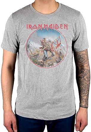 Official Iron Maiden Trooper Vintage Circle T-Shirt Book of Souls Transylvania Eddie: Amazon.es: Ropa y accesorios