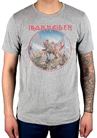 f05e3551 Image Unavailable. Image not available for. Color: Official Iron Maiden  Trooper Vintage Circle T-Shirt ...
