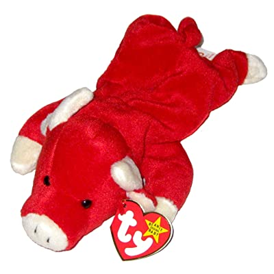 TY Beanie Baby - SNORT the Bull: Toys & Games