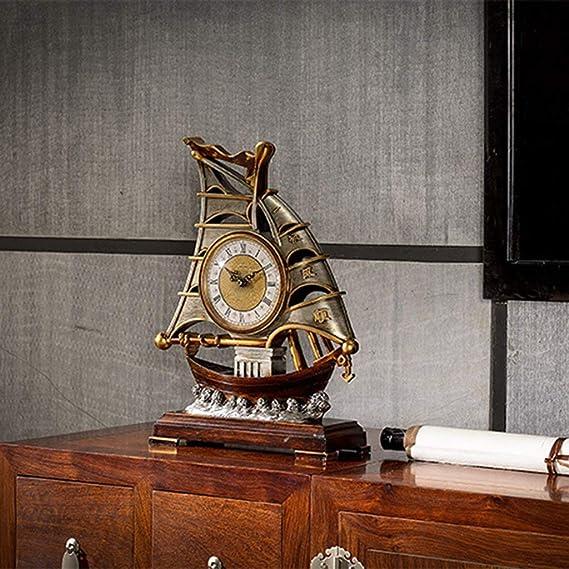 Amazon.com : Family Fireplace Clocks Desk Watch Tablecloth Clocks Bedroom Retro Resin Decoration Quartz Clock ó Desk n 31.5 X 11.5 X42 cm Suitable for ...