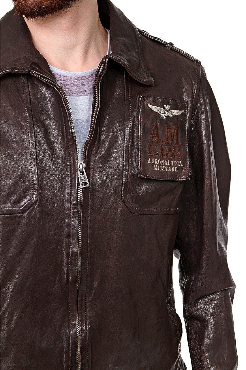 Aeronautica Militare - Chaqueta - Vestir - para hombre Marrón marrón oscuro: Amazon.es: Ropa y accesorios