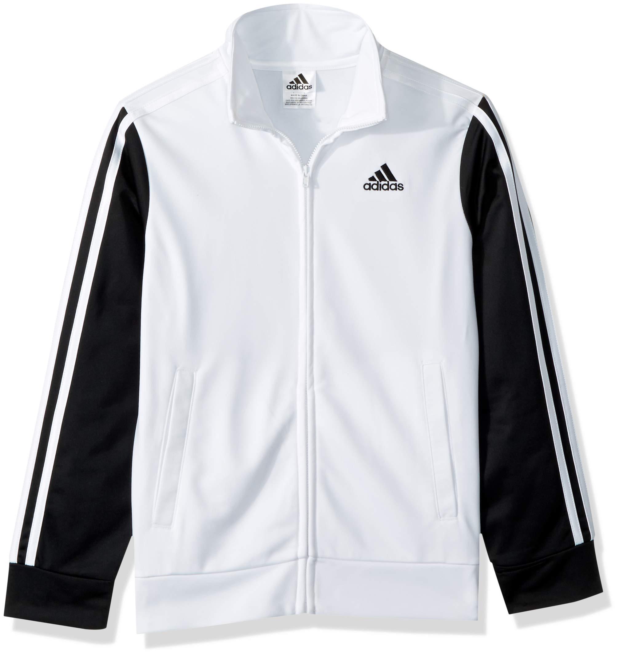 adidas Boys' Big Tiro and Tricot Jackets, White, S(8)