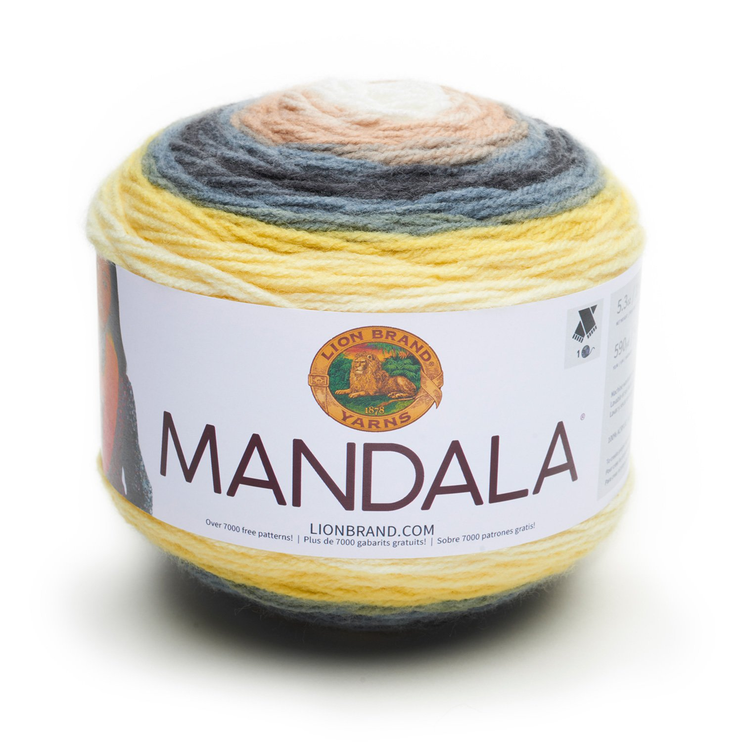 Lion Brand Yarn 525-200 Mandala Yarn, Wood Nymph Lion Brand Yarn Company