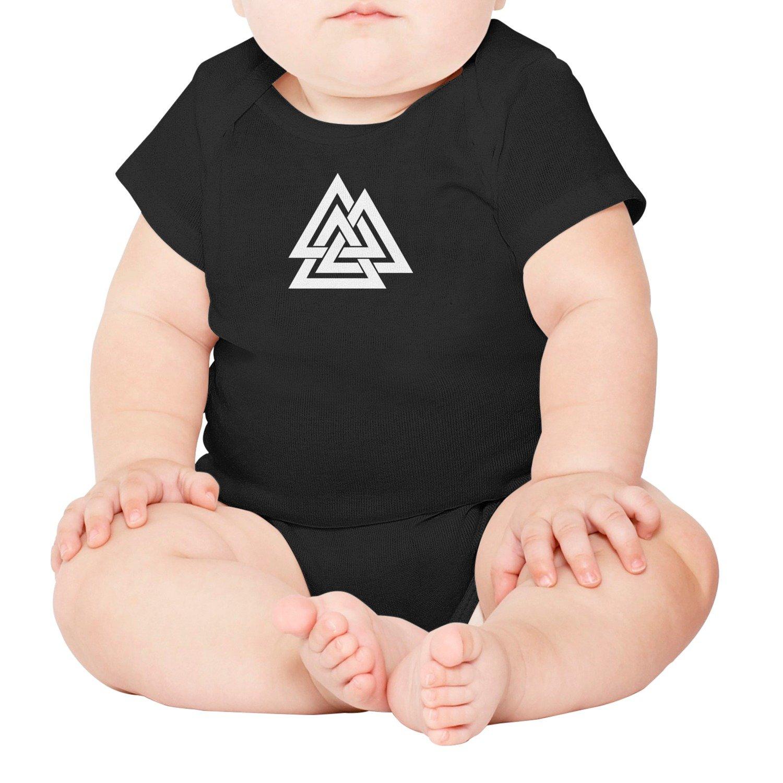 Artisfive Valknut Norse Symbol Odin Warriors Unisex Baby Onesies Infant Bodysuit