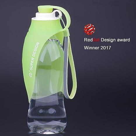 Super Design Dispensador de Agua portátil para Perro Botella de Viaje Botella de Agua portátil para