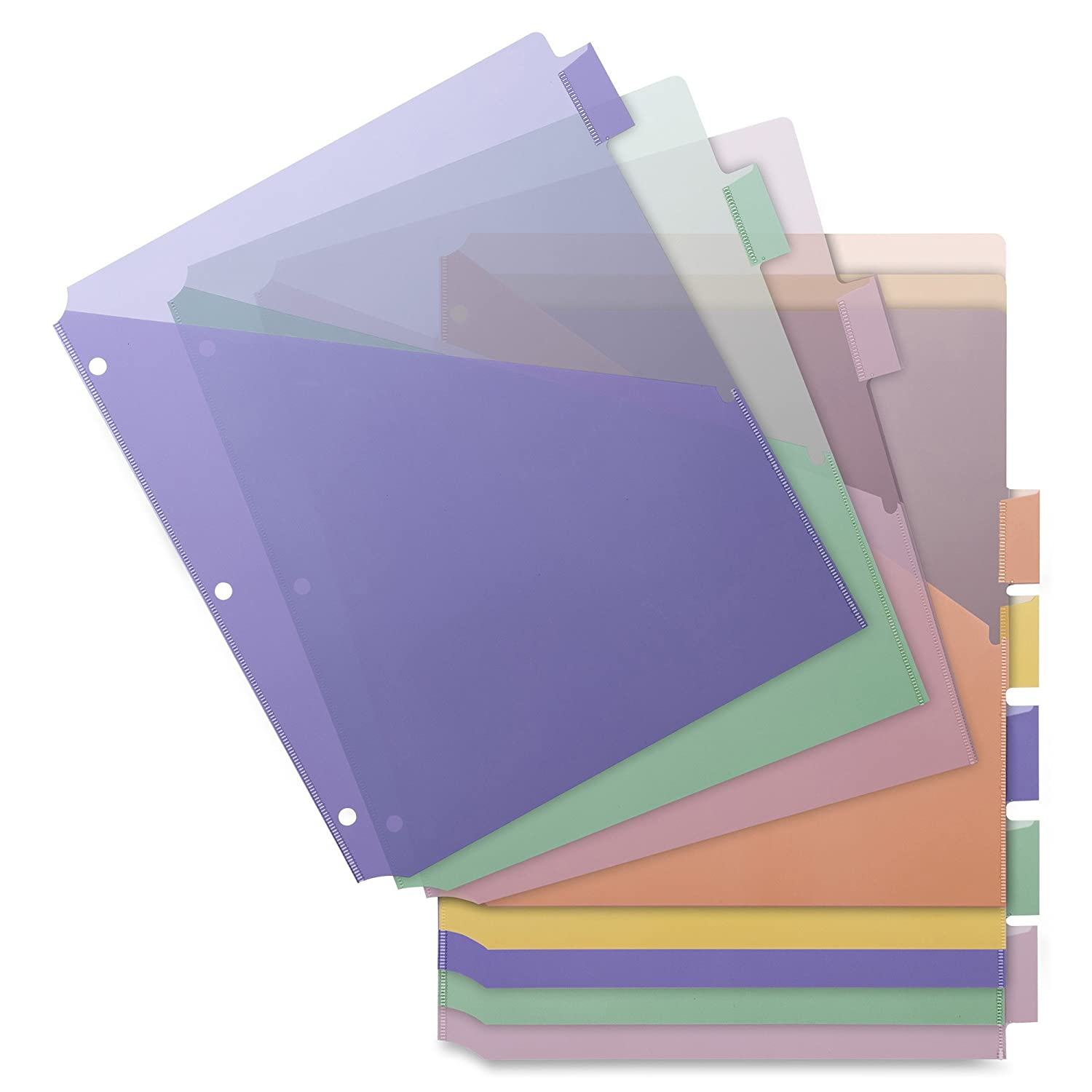 50160-6493 Frosted Strawberry Lime Tangerine Grape Blueberry Pack of 6 Letter Size Lemon Filexec 3 Ring Binder 1.5 Inch Capacity