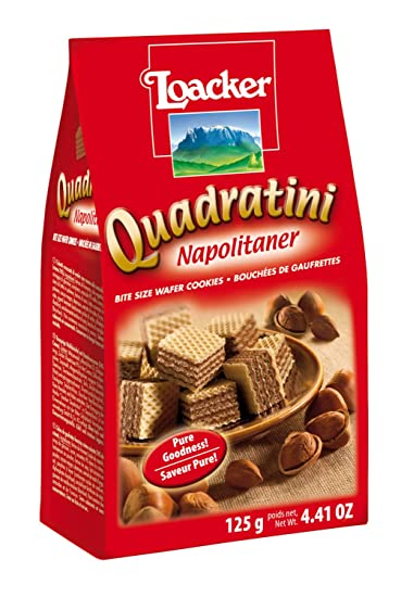 Loacker Napolitaner Hazelnut Wafer 125 g (Pack of 6)