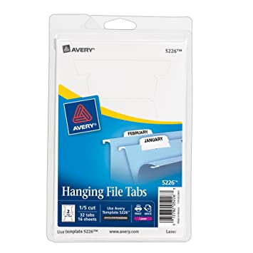 Amazon Avery Print Or Write Hanging File Tabs For Laser