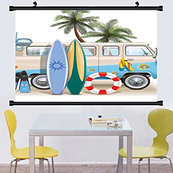 Amazon Gzhihine Wall Scroll Surf Decor Collection Surfing Classy Wall Bedroom Decor Concept Collection